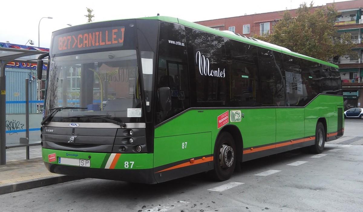 Empresa montes estrena dos autobuses h bridos el for Oficinas del consorcio de transportes de madrid puesto 2